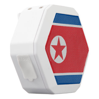 North Korea Flag White Bluetooth Speaker