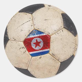 North Korea Football Round Sticker