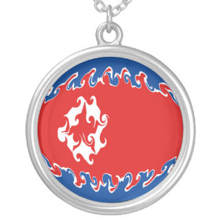 North Korea Gnarly Flag Personalized Necklace