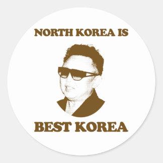 North Korea is best Korea Classic Round Sticker