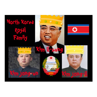 North Korea* Kim Boys Postcard
