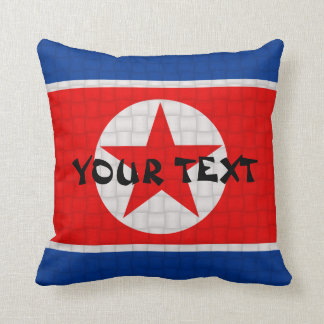 North Korea Korean Flag: ADD TEXT Throw Pillow