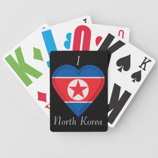 North Korea Korean flag Bicycle Playing Cards