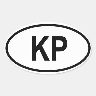 "North Korea ""KP"" Oval Sticker"