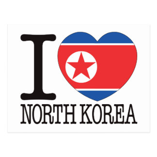 North Korea Love v2 Postcard