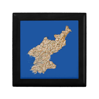 North Korea Map Gift Box