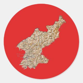 North Korea Map Sticker