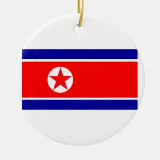 North Korea Round Ceramic Decoration