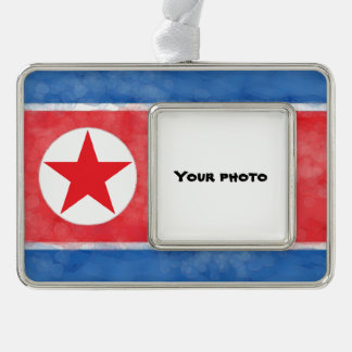 North Korea Silver Plated Framed Ornament