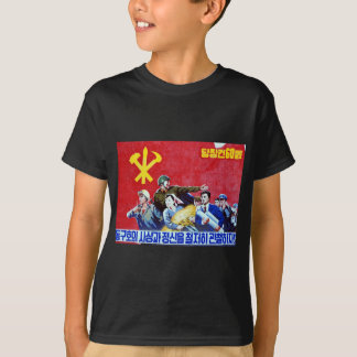 North Korean Communist Party Poster T-Shirt