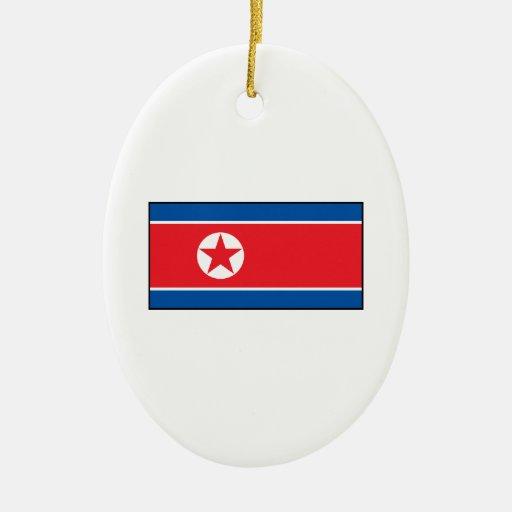 North Korean Flag Christmas Tree Ornament