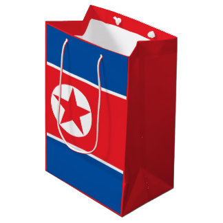 North Korean flag Medium Gift Bag