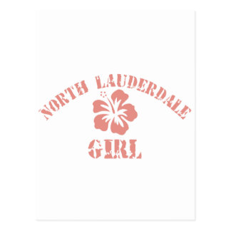 North Lauderdale Pink Girl Post Card