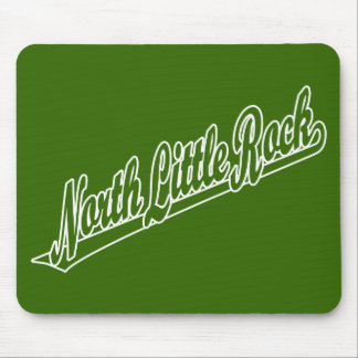 North Little Rock script logo in outline Mouse Pad