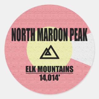 North Maroon Peak Classic Round Sticker