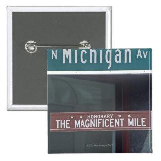 'North Michigan Avenue and The Magnificent Mile 15 Cm Square Badge