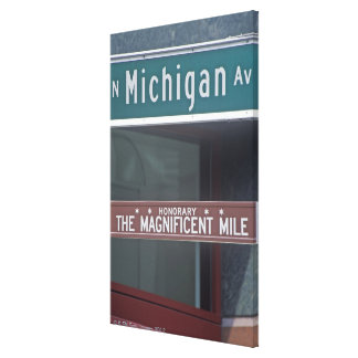 'North Michigan Avenue and The Magnificent Mile Canvas Print