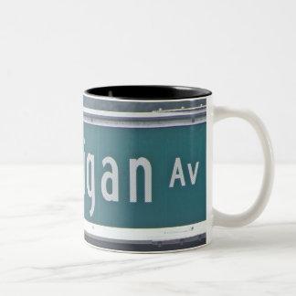 'North Michigan Avenue and The Magnificent Mile Two-Tone Coffee Mug