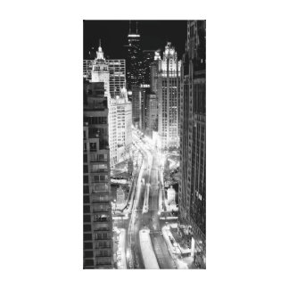 North Michigan Avenue in Chicago after winter Canvas Print