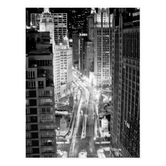 North Michigan Avenue in Chicago after winter Postcard