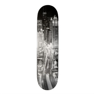 North Michigan Avenue in Chicago after winter Skateboard Deck