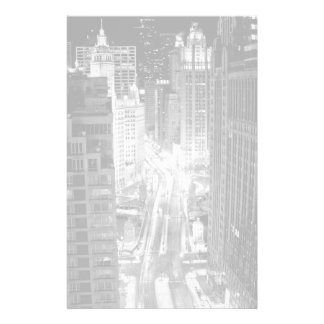 North Michigan Avenue in Chicago after winter Stationery