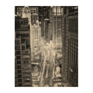 North Michigan Avenue in Chicago after winter Wood Print