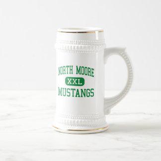 North Moore - Mustangs - High - Robbins Beer Steins
