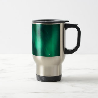 North moving Borealis picture green sky night Coffee Mugs