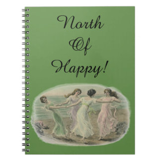 North of Happy Notebook Gratitude Journal day plan
