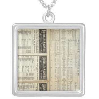 North of Louisville and Nashville Railroad Silver Plated Necklace