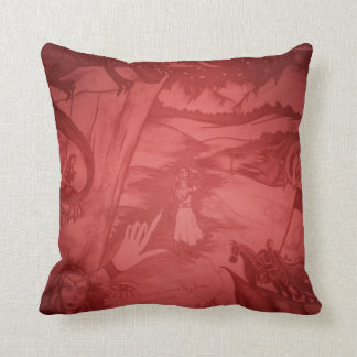 North of the North Star Burgundy Pillow