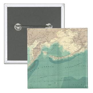 North Pacific Ocean 15 Cm Square Badge