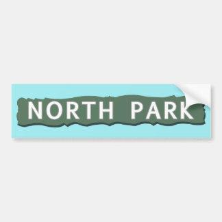 North Park Sign Bumper Sticker