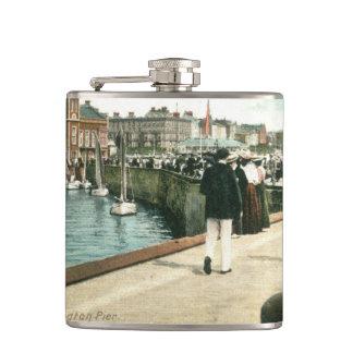 North Pier, Bridlington (1905) Hip Flask