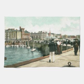 North Pier, Bridlington (1905) Tea Towel
