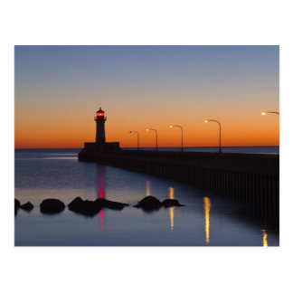North pier Lighthouse in Duluth Minnesota Postcards
