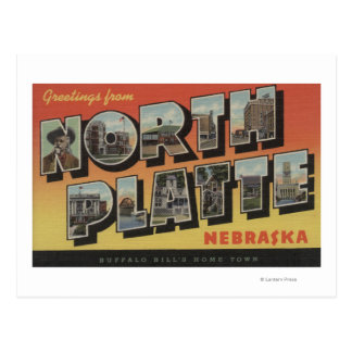 North Platte, Nebraska - Large Letter Scenes Postcard