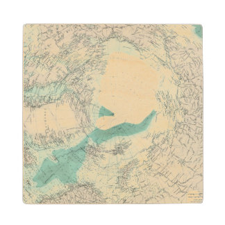 North Polar regions Wood Coaster