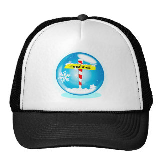 North Pole 2016 Winter Globe Cap