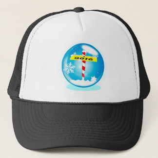 North Pole 2016 Winter Globe Trucker Hat