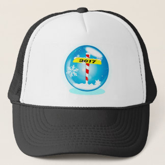 North Pole 2017 Winter Globe Trucker Hat