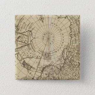 North Pole 2 15 Cm Square Badge