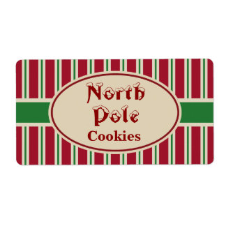 North Pole Christmas Cookies Gift Tags Labels