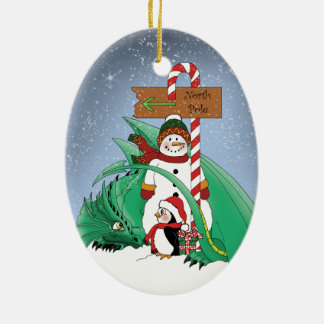 North Pole Christmas Ornament