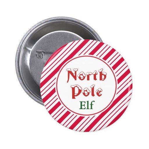 North Pole Elf Button