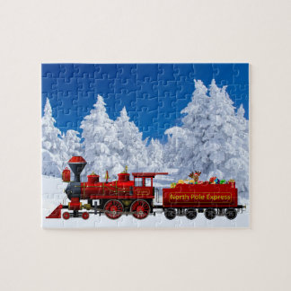 north pole express christmas train jigsaw puzzle
