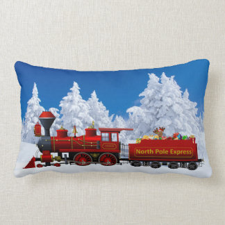 north pole express christmas train pillow