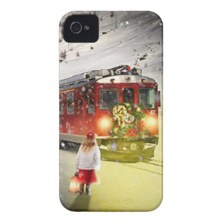 North pole express - christmas train - santa train Case-Mate iPhone 4 case