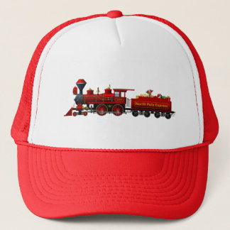 north pole express christmas train trucker hat
